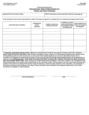 small business subcontracting plan form - Fill Out Online
