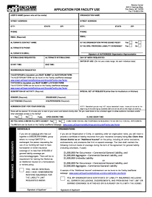 Application for facility use - Eau Claire Area School District