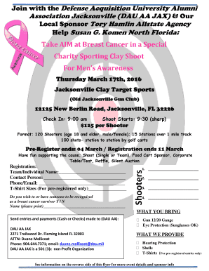 Take AIM at Breast Cancer in a Special Charity Sporting - dauaajax