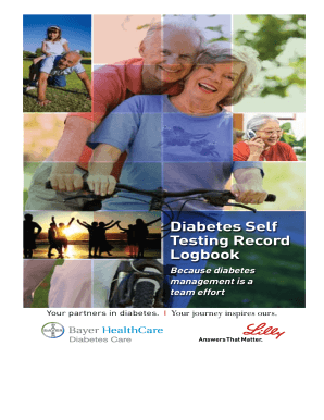 Diabetes Self Testing Record Logbook - ContourCare