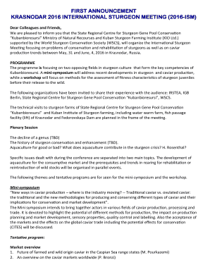 fillable online wscs krasnodar 2016 international sturgeon meeting