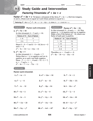 Study guide & intervention alg22 | function (mathematics.