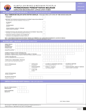 Pendaftaran Majikan Kwsp Fill Online Printable Fillable Blank Pdffiller