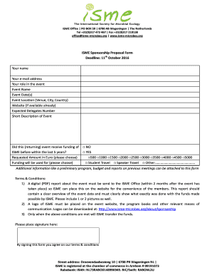 Printable event sponsorship proposal ppt - Edit, Fill Out