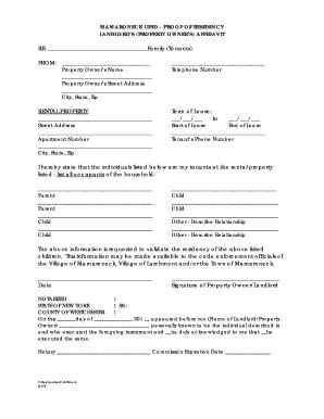 Landlord Proof Of Residency Letter from www.pdffiller.com