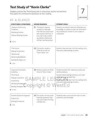 SAMPLE LESSON Copyright WestEd - readingapprenticeship