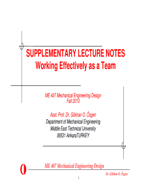 Fillable Online Me Metu Edu Supplementary Lecture Notes Me Metu Edu Fax Email Print Pdffiller