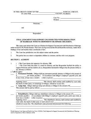 Dissolution of marriage florida forms - Fillable & Printable ...
