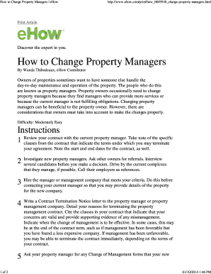 change of property manager letter to tenants - Edit, Fill