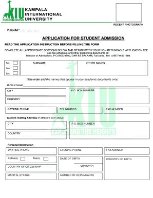 Kampala International University Dar Es Salaam Application Form ...