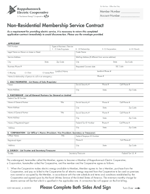 Non-Residential Membership Service Contract - myreccoop