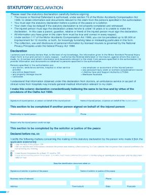 how to write a statutory declaration nsw