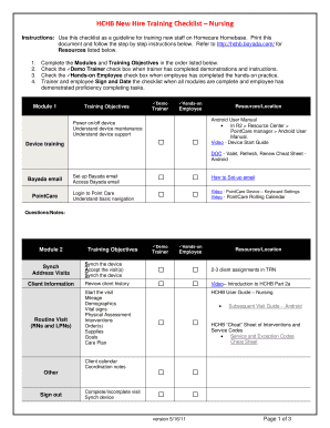 new hire forms checklist Templates - Fillable & Printable Samples ...