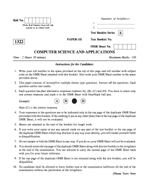 Fillable omr sheet 100 questions pdf download to Complete Online
