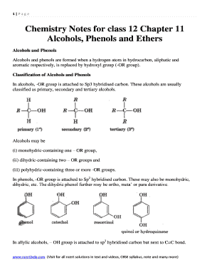 Fillable Online Chemistry Notes for class 12 Chapter 11 Fax Email