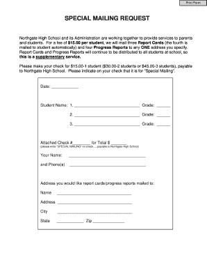 Editable High school progress report template pdf Fillable