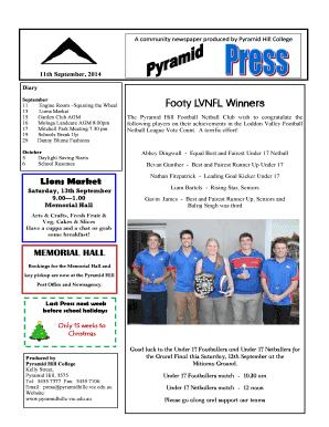Fillable Online pyramidhillc vic edu Footy LVNFL