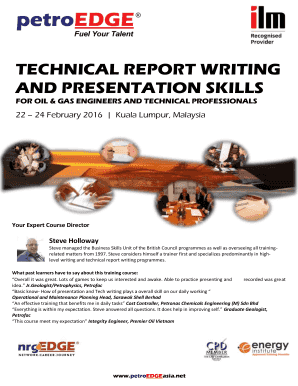 TECHNICAL REPORT WRITING AND PRESENTATION SKILLS - PetroEDGE
