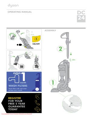 fillable online dyson dc24 vacuum cleaner user guide manual rh pdffiller com Dyson DC24 Animal Manual dyson dc24 service manual