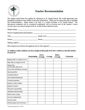 evaluation form for kindergarten  Fillable Online sjsissaquah Kindergarten teacher evaluation ...
