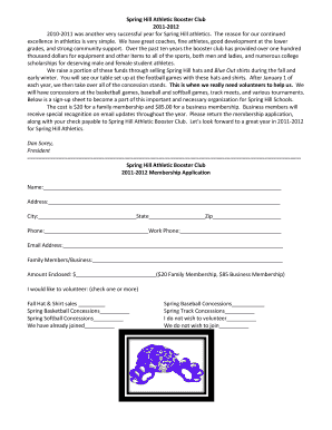 Spring Hill Athletic Booster Club 2011-2012 This is when - shisd