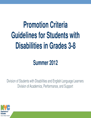 Nyc Doe Modified Promotion Criteria Checklist ePub Online ...