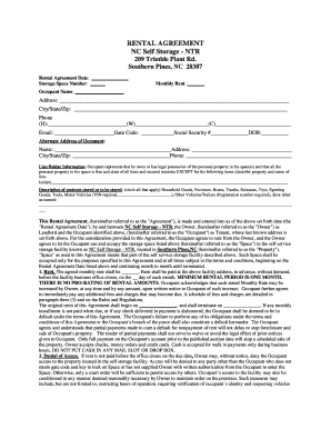Storage E Al Agreement Forms