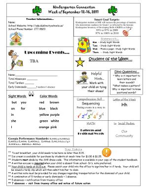 Fillable Smart Goals For Kindergarten Teachers Edit Print