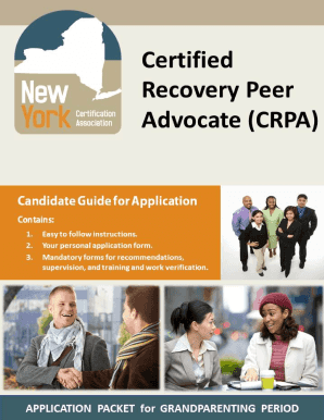 Candidate Guide For Application - Nyca - Certified Recovery Peer ... - nycertification