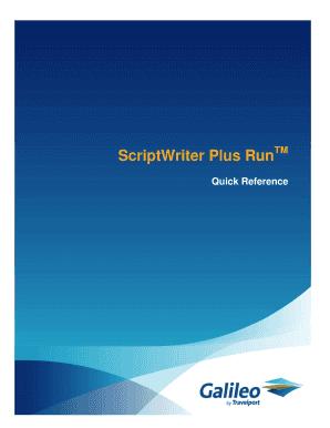 fillable online scriptwriter plus run fax email print pdffiller