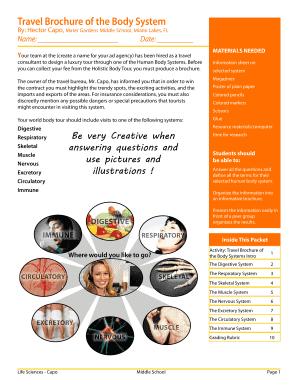 travel brochure school project printable travel brochure templates