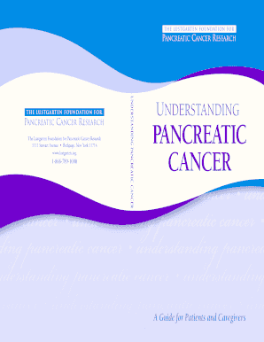 pancreatic cancer stories back pain - Fill Out Online