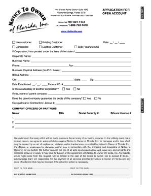 notice to owner open credit form notice to owner of. Black Bedroom Furniture Sets. Home Design Ideas
