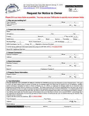 notice to owner request form notice to owner of florida. Black Bedroom Furniture Sets. Home Design Ideas