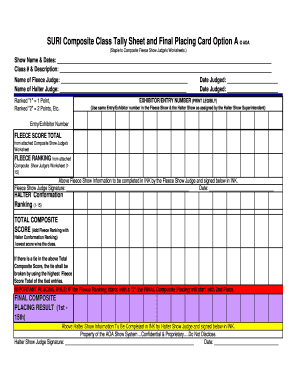 Voting Tally Sheet Template from www.pdffiller.com