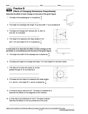 9-5 problem solving effects of changing dimensions proportionally answers