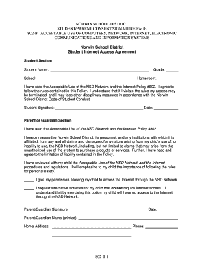Acceptable Use Procedures / Sign-Off Sheet - Norwin School District