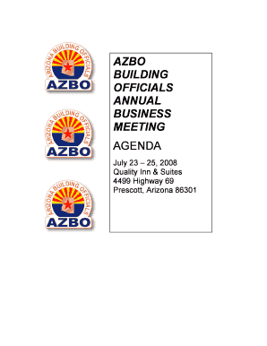 Azbo building officials annual business meeting agenda