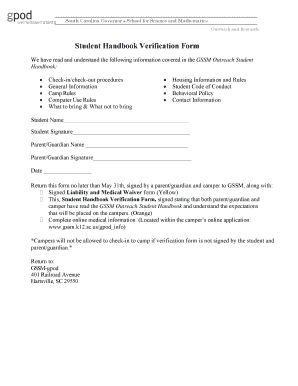 Student Handbook Template Word Fill Out Online Download Printable - Handbook template word