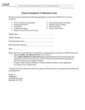 Student Handbook Template Word Fill Out Online Download Printable - Handbook template word