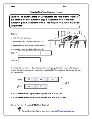 Tape diagram online diy enthusiasts wiring diagrams fillable online tape diagrams step by step lesson diagramming word rh pdffiller com 5th grade math ccuart Choice Image
