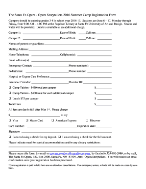 Registration form sample templates fillable printable for Sample workshop registration form template