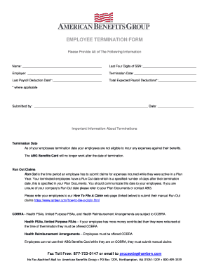 picture regarding Printable Employee Termination Form known as worker termination kind - Printable Governmental Templates