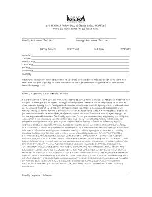sample nanny contract