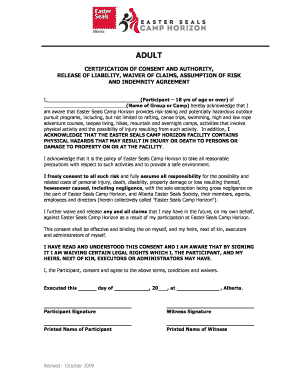 editable indemnity form template for a camp fill print. Black Bedroom Furniture Sets. Home Design Ideas