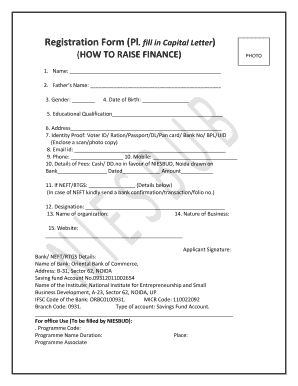 Registration Form Pl Fill In Capital Letter HOW TO RAISE   Niesbud Nic · Management  Agreement Concerning   M2mproperties · M2m Properties Commercial ...