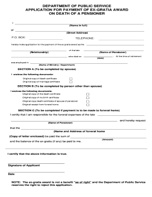 Payment receipt letter edit print fill out download online application for payment of exgratia award pronofoot35fo Choice Image