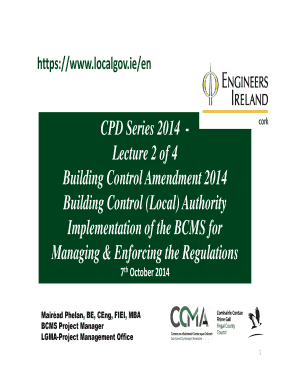 07-10-2014 CPD02 Building Control Amendment 2014 - Engineers ... - engineersirelandcork