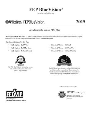 Fillable Online FEP BlueVision - Davis Vision Fax Email ...