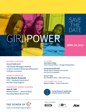 SAVE THE DATE - Young Women's Leadership Charter School - ywlcs